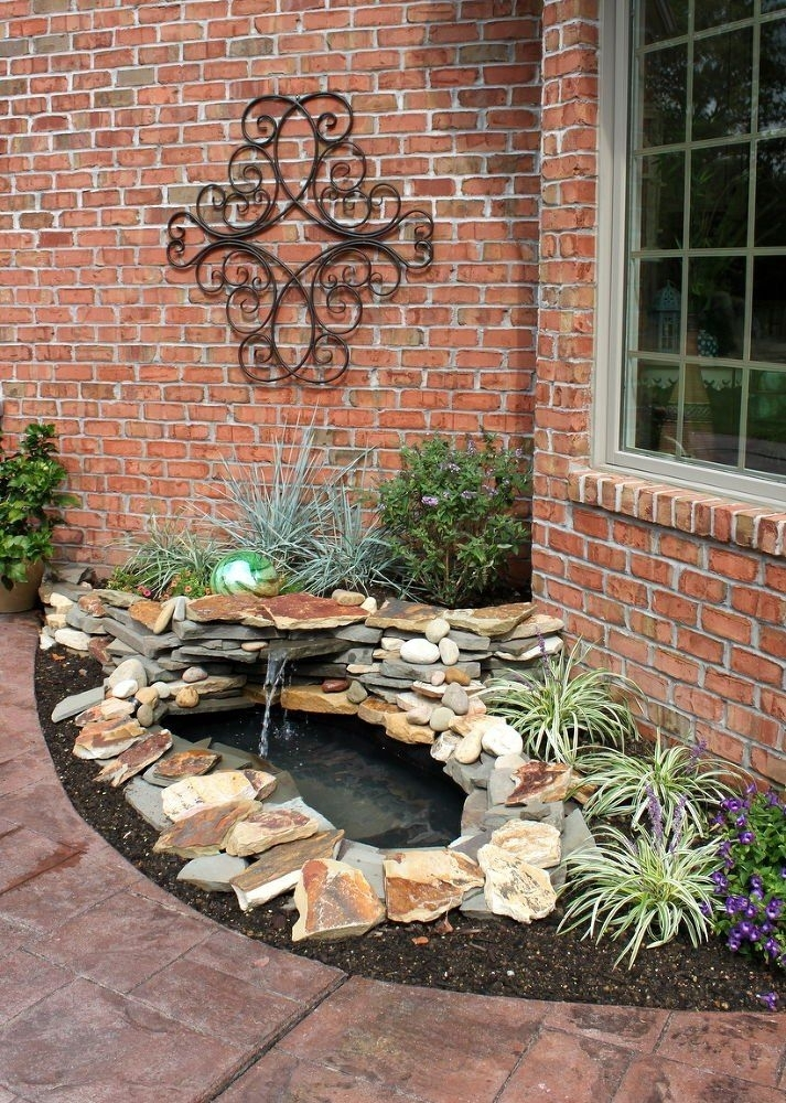 Best 25+ Small Water Features Ideas On Pinterest | Garden Water regarding Landscaping Ideas Front Yard Water Feature