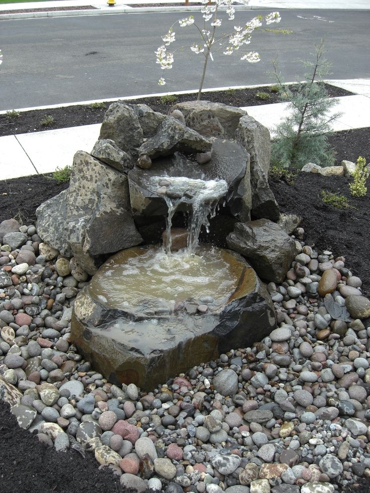 Best 25+ Yard Water Fountains Ideas On Pinterest | Diy Fountain inside Landscaping Ideas Front Yard Water Feature