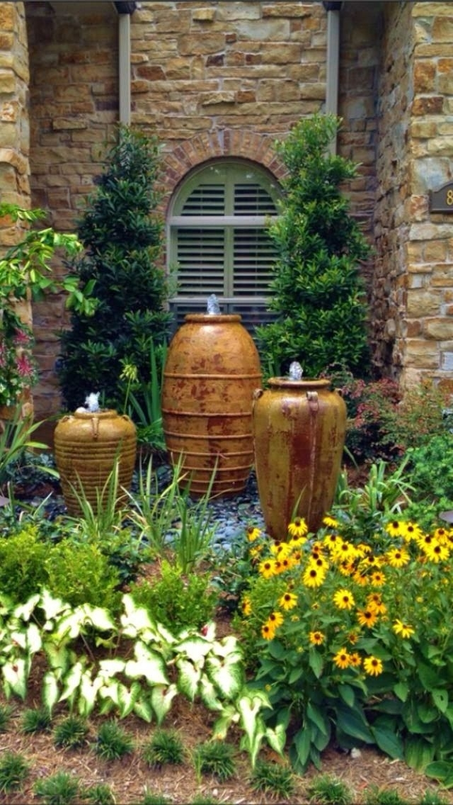 Landscaping ideas front yard water feature garden design for Front garden feature ideas