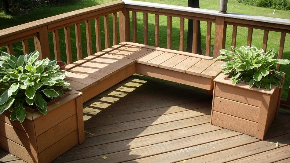 Building A Wooden Planter For Your Deck   Decking within Garden Decking Ideas For Small Gardens