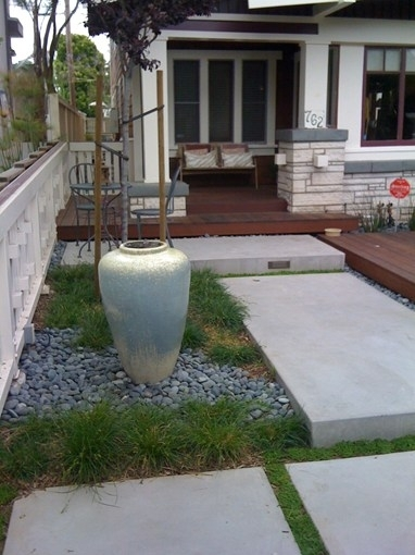 Concrete Slabs With Water Feature Front Yard Landscaping with regard to Landscaping Ideas Front Yard Water Feature