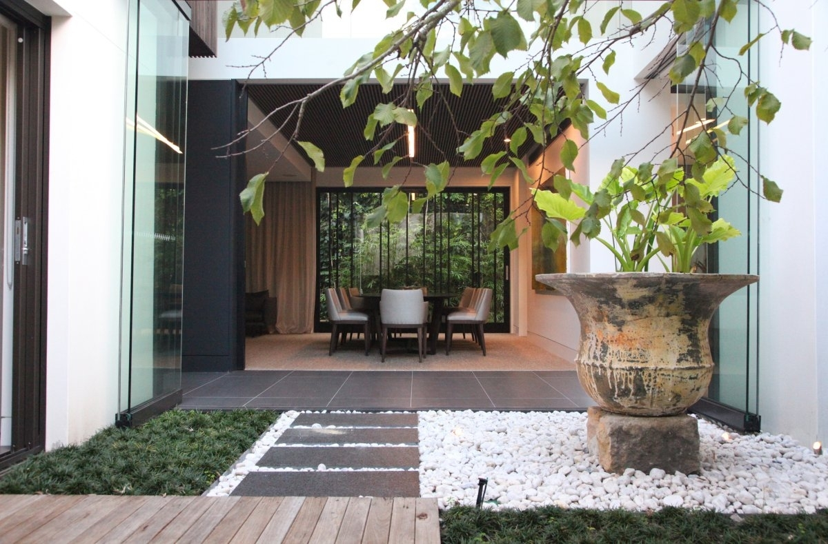 Contemporary Home Z House Bellevue Hill   Keribrownhomes with Garden House Apartments