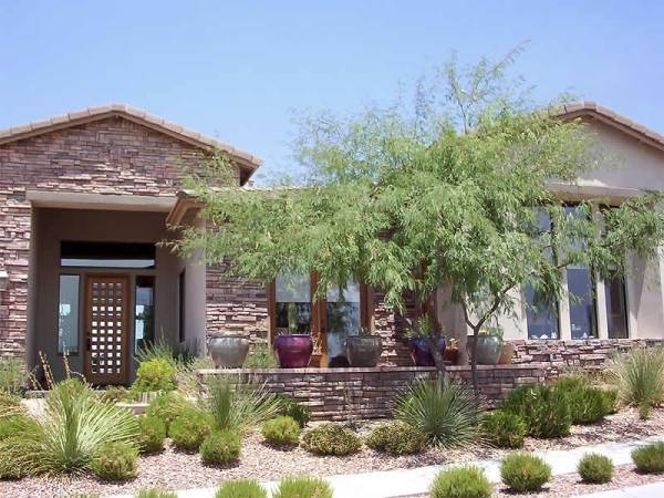 Desert Landscape Front Yard Ideas With Rocks And Dunes Front Yard with regard to Desert Landscaping Ideas For Small Front Yards