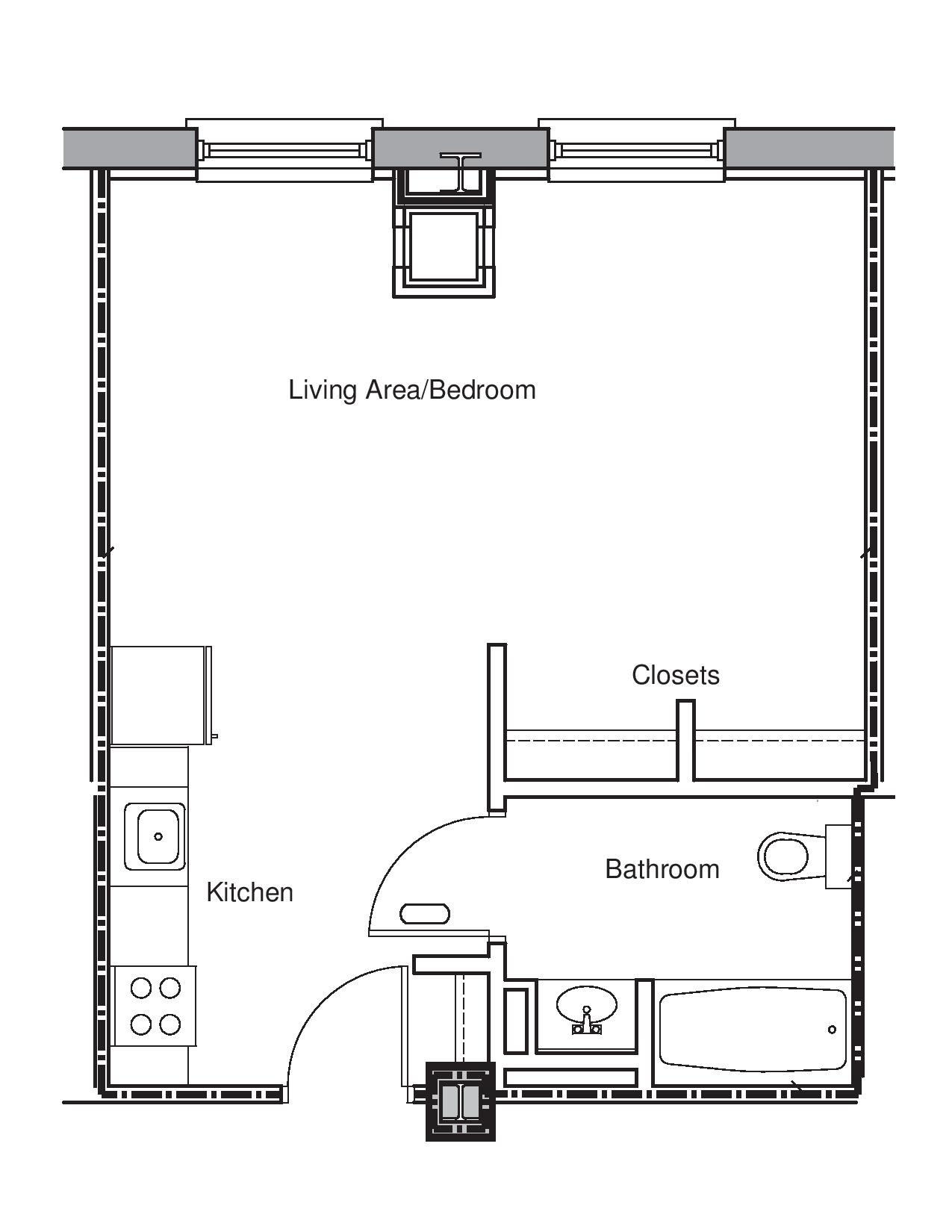 Emejing Efficiency Apartment Floor Plans Gallery - Decorating inside Best Layout For Lakeview Gardens Apartments Design Ideas