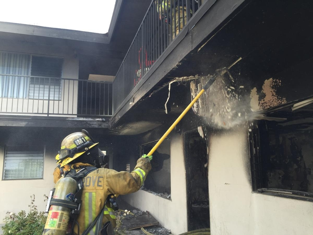 Fire Damages Garden Grove Apartments; 7 Displaced – Orange County intended for Apartment In Garden Grove