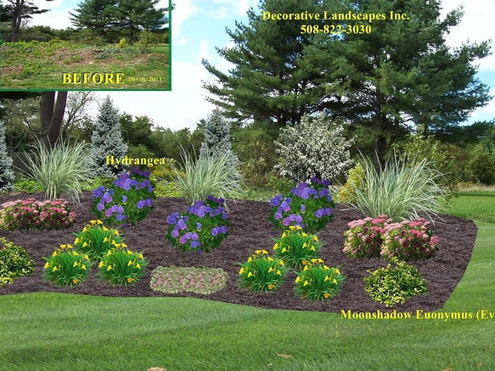 Front Yard Landscape Designs In Ma   Decorative Landscapes Inc pertaining to Landscaping Ideas For Front Yard With Hill
