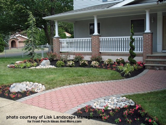 Front Yard Landscape Designs With Before And After Pictures throughout Landscaping Ideas For Front Yard With Porch