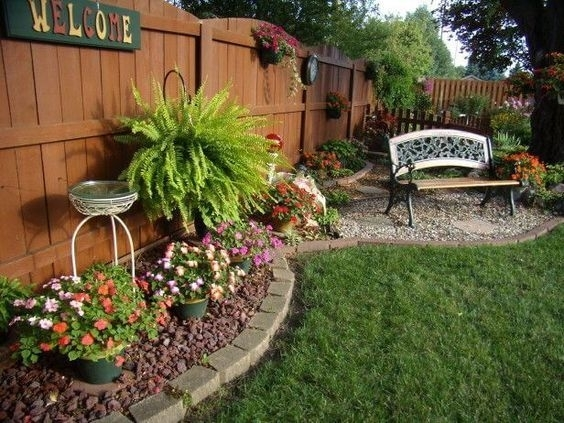Garden Design With Absolute Small Landscape With Backyard Bar within Garden Designs For A Small Backyard