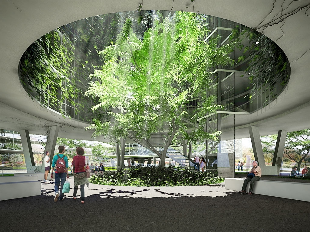 """Inner Courtyard Of The Typical """"Living Node"""" Building. The Inner with Courtyard Garden Apartments"""