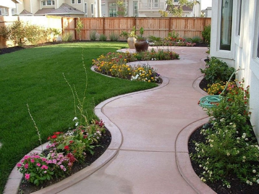 Landscape, Island Front Yard For Cheap Landscaping Ideas For Small with Garden Plan For Small Front Yard