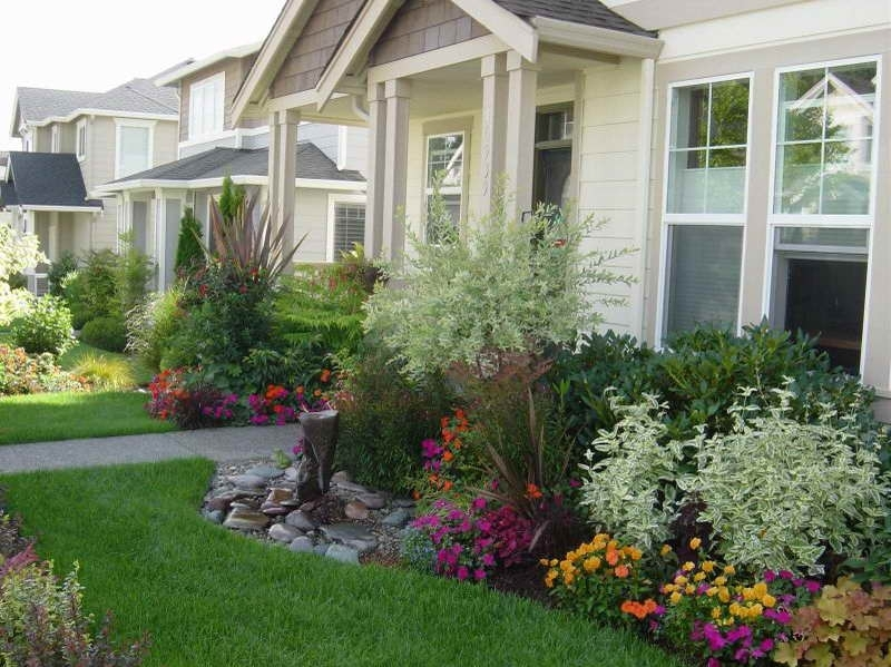 Landscaping Around A Deck | Small Front Yard Landscape Ideas With throughout Landscaping Ideas For Small Flower Gardens