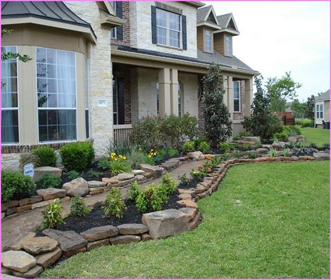 Landscaping Ideas For Front Yard With Rocks | Home Design Ideas pertaining to Landscaping Ideas For Front Yard With Stone