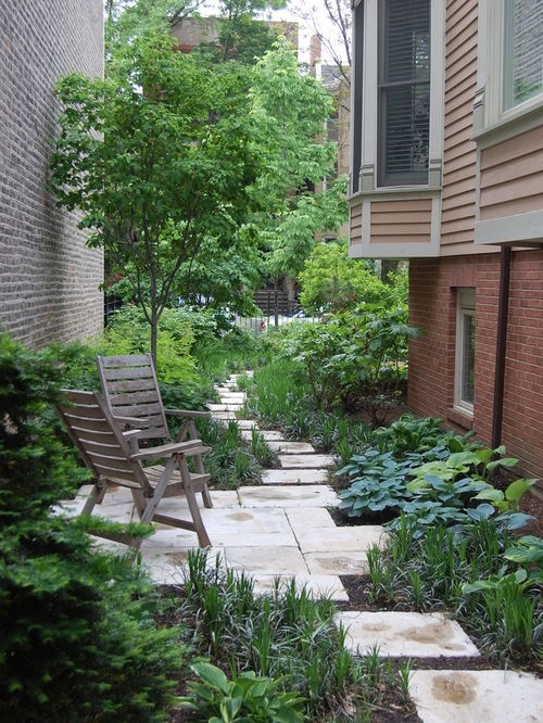 Long Narrow Yard Landscaping | Houzz inside Landscaping Ideas For A Small Side Yard