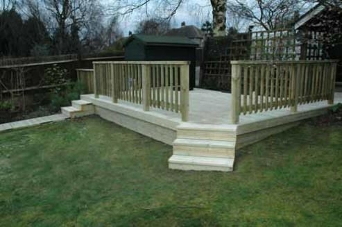 Garden Design Decking Ideas raised decking ideas for small gardens – garden design