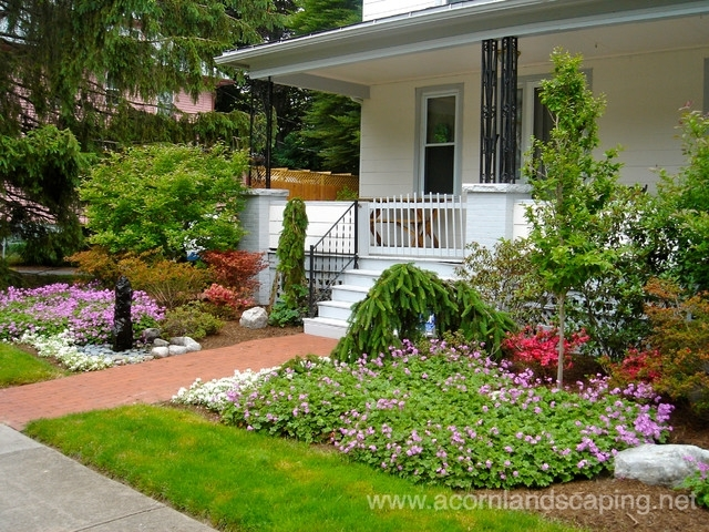 Traditional Front Yard Garden Landscaping Walkway For Ranch Style with Landscaping Ideas For Front Yard Walkway