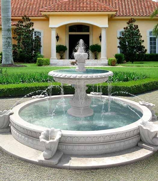 Water Fountains, Front Yard And Backyard Designs intended for Landscaping Ideas Front Yard Water Feature