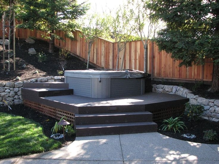 35 Best Hot Tob Ideas Images On Pinterest | Hot Tub Deck, Backyard regarding Small Backyard Landscaping Ideas Hot Tub
