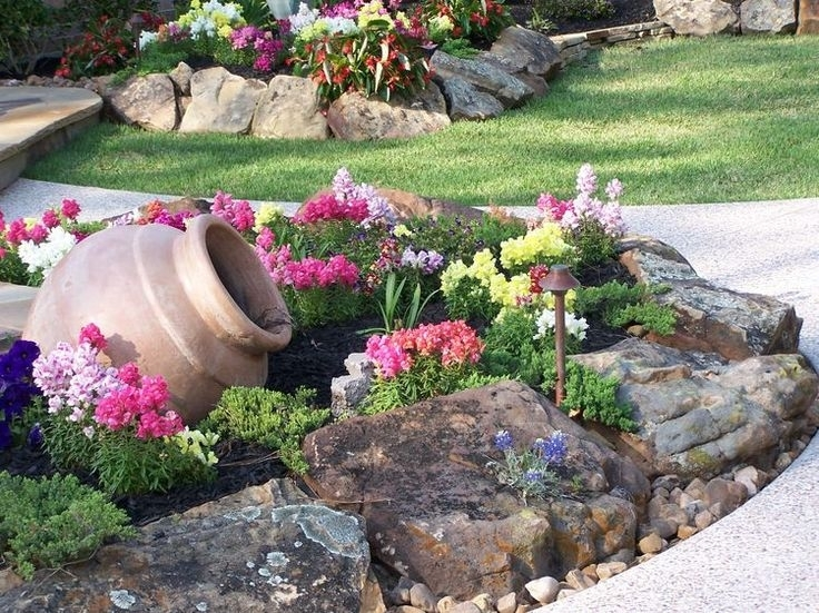 528 Best Rock Garden Ideas Images On Pinterest | Garden Ideas inside Landscaping Ideas For Front Yard With Rocks