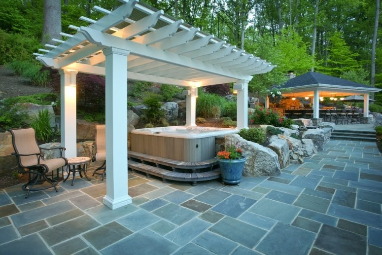 65 Awesome Garden Hot Tub Designs - Digsdigs regarding Small Backyard Landscaping Ideas With Hot Tub