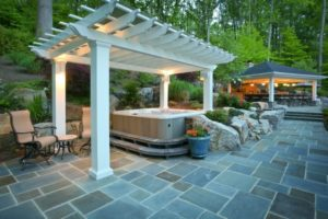 65 Awesome Garden Hot Tub Designs - Digsdigs throughout Small Backyard Landscaping Ideas Hot Tub
