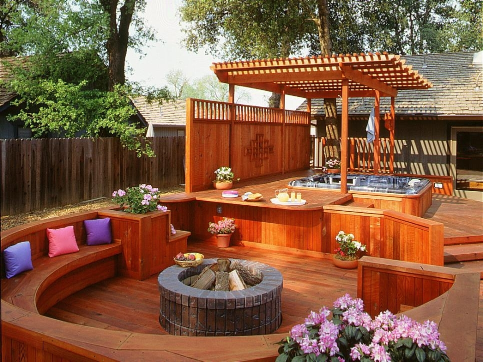 7 Sizzling Hot Tub Designs | Hgtv throughout Small Backyard Landscaping Ideas Hot Tub