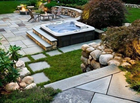 87 Best Backyard Design Images On Pinterest | Backyard Designs with regard to Small Backyard Landscaping Ideas Hot Tub