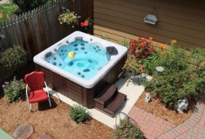 Backyard Ideas For Hot Tubs And Swim Spas in Small Backyard Landscaping Ideas Hot Tub