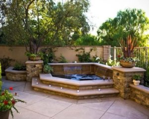 Best 25+ Backyard Hot Tubs Ideas Only On Pinterest   Diy Hottub pertaining to Small Backyard Landscaping Ideas Hot Tub