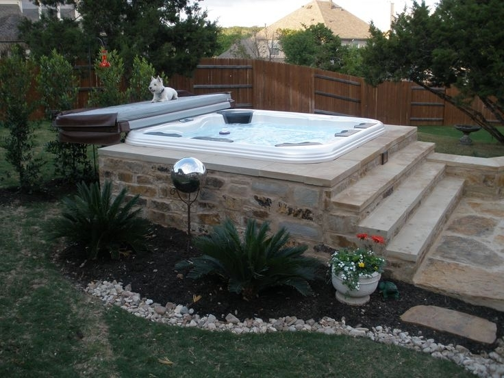 Best 25+ Backyard Hot Tubs Ideas Only On Pinterest | Diy Hottub with Small Backyard Landscaping Ideas With Hot Tub