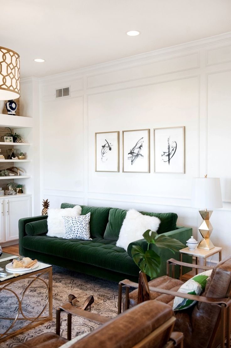 Best 25+ Green Sofa Ideas On Pinterest | Green Living Room Sofas intended for The Best Ideas For Emerald Garden Apartments