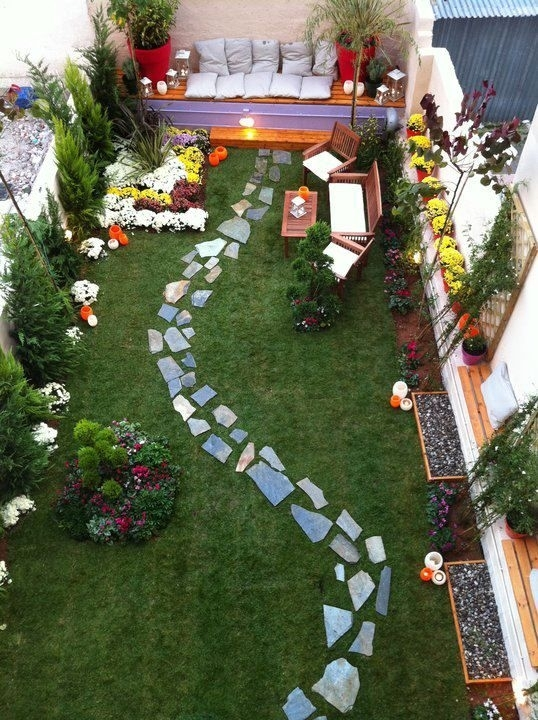 Garden Design For Long Narrow Gardens - Garden Design on Long Narrow Backyard Design Ideas id=25681