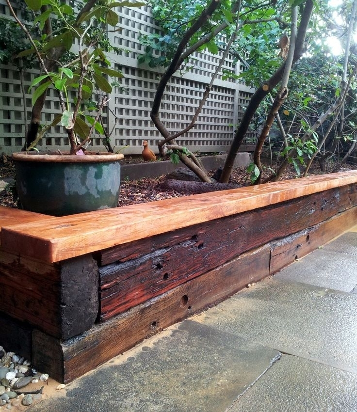 best 25 railway sleepers garden ideas on pinterest sleepers with regard to small garden - Garden Design Using Railway Sleepers