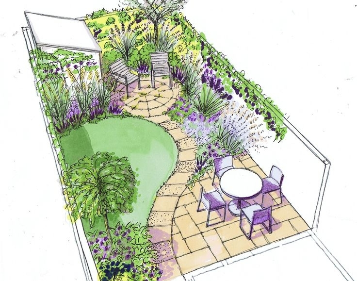 Design For A Small Back Town Garden On A Low Budget … | Pinteres… pertaining to Garden Design For Small Town Gardens