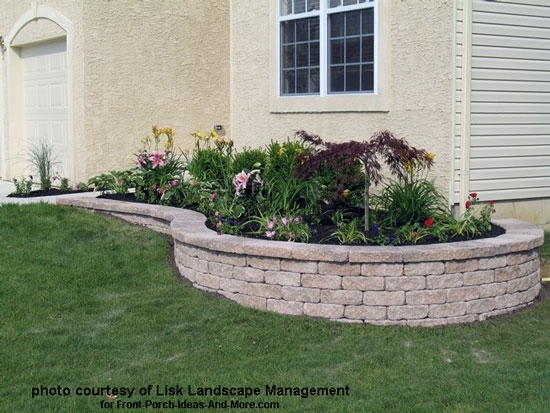 Small Retaining Wall Ideas: Landscaping Ideas For Front Yard Retaining Wall