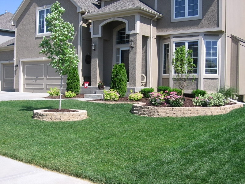 Front Yard Landscaping Ideas Brick House : Suitable Front Yard regarding Landscaping Ideas For Front Yard With Bricks