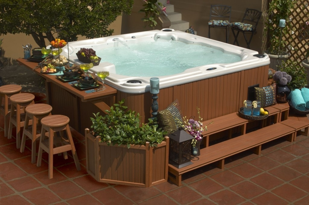 Google Image Result For Http://www.calspasblog/wp-Content within Small Backyard Landscaping Ideas With Hot Tub