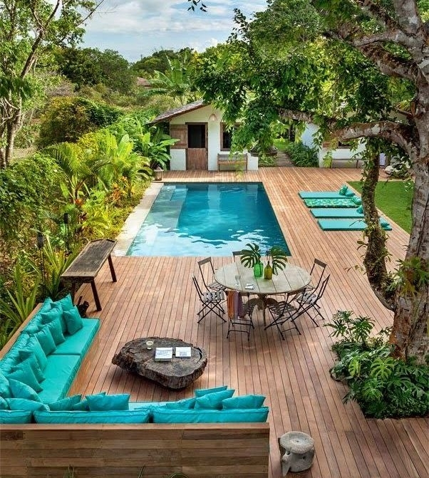 Great Small Backyard With Pool Landscaping Ideas 9 Best inside Landscaping Ideas For Small Backyards With A Pool