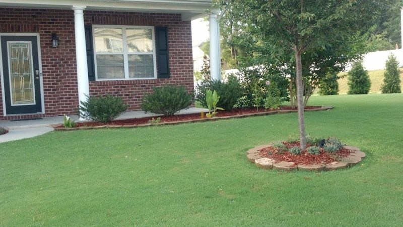 Landscaping Ideas For Front Yard Ranch House With A Front Porch for Simple Garden Ideas For Small Front Yard