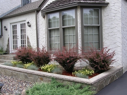 Landscaping In Front Of The Bay Window   Ontario Oasis   Pinterest within Landscaping Ideas For Front Yard Window