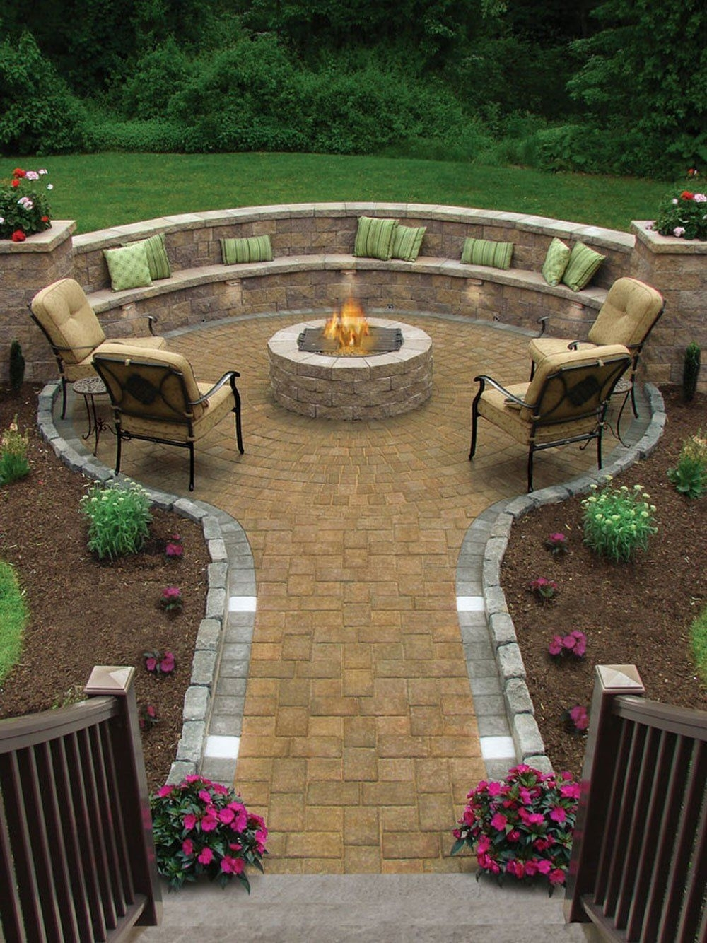 17 Of The Most Amazing Seating Area Around The Fire Pit Ever throughout Amazing Decks Backyard Garden Ideas