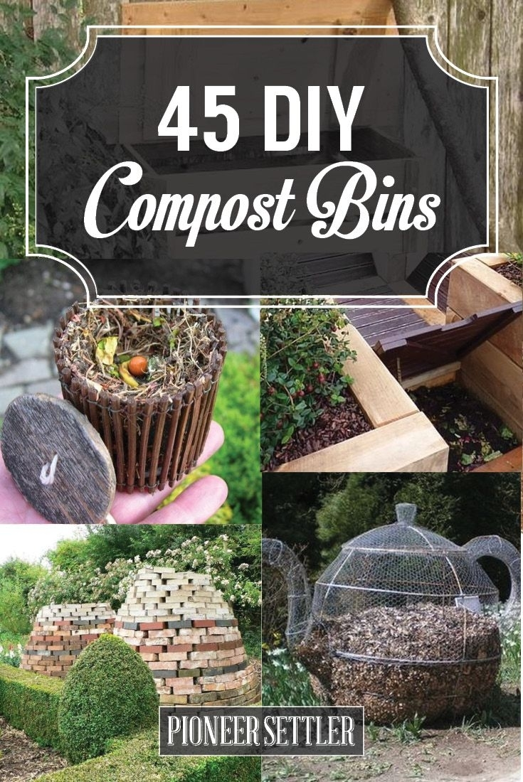 45 Diy Compost Bins To Make For Your Homestead | Pinterest | Diy within Garden Gourmet Backyard Composter