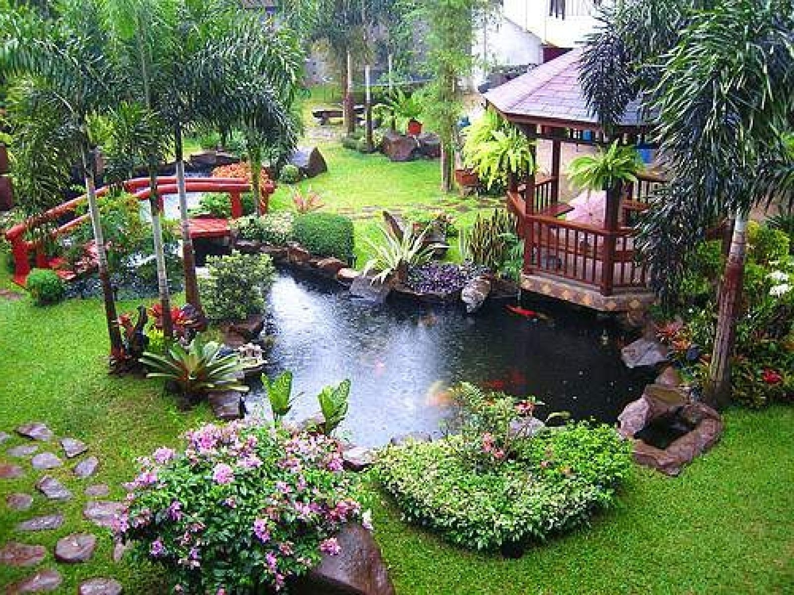 Amazing And Cool Pond Exterior Decoration Ideas Beautiful Modern within Backyard Garden With Pond