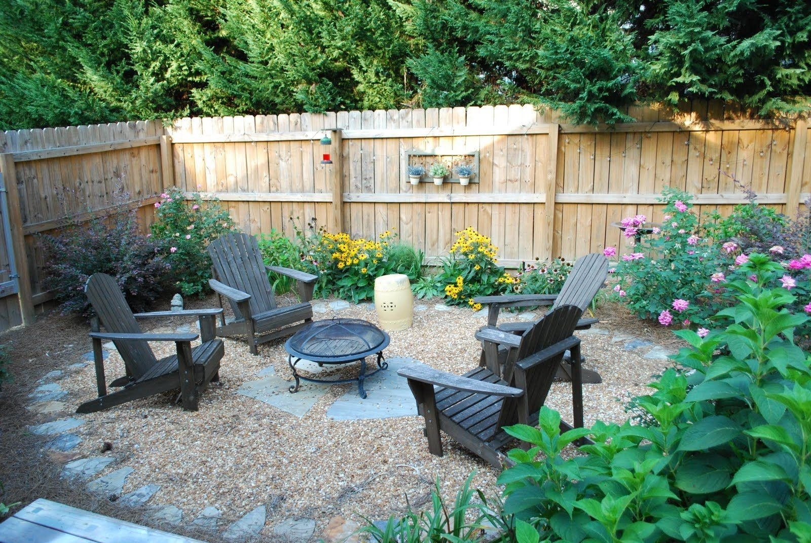 Back Patio Landscaping Ideas Inspirational Simple Setup For Fire Pit throughout Backyard Garden Set Up