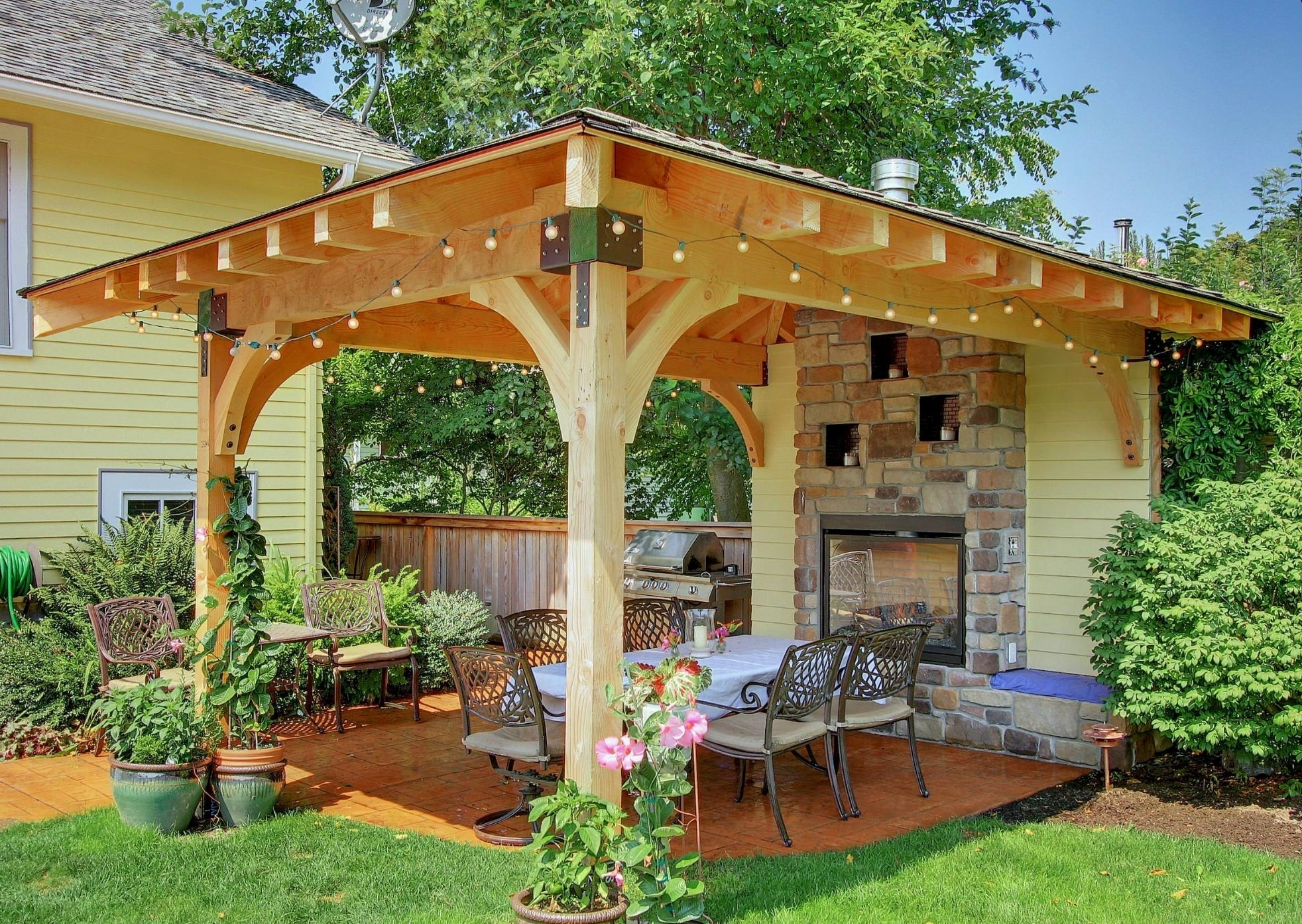 Backyard Expressions Garden Pergola Luxury Thanks To The Fireplace A intended for Backyard Expressions Garden Pergola