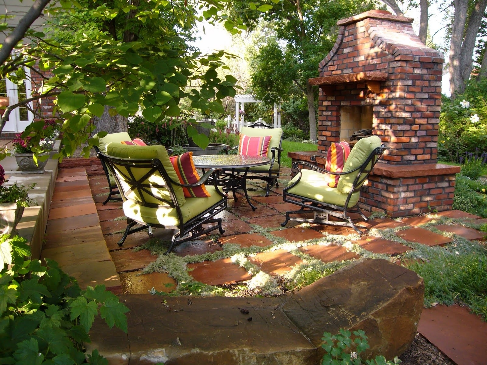 Backyard Patio Ideas Fireplace Your Reference - Homes Alternative within Country Backyard Garden Ideas