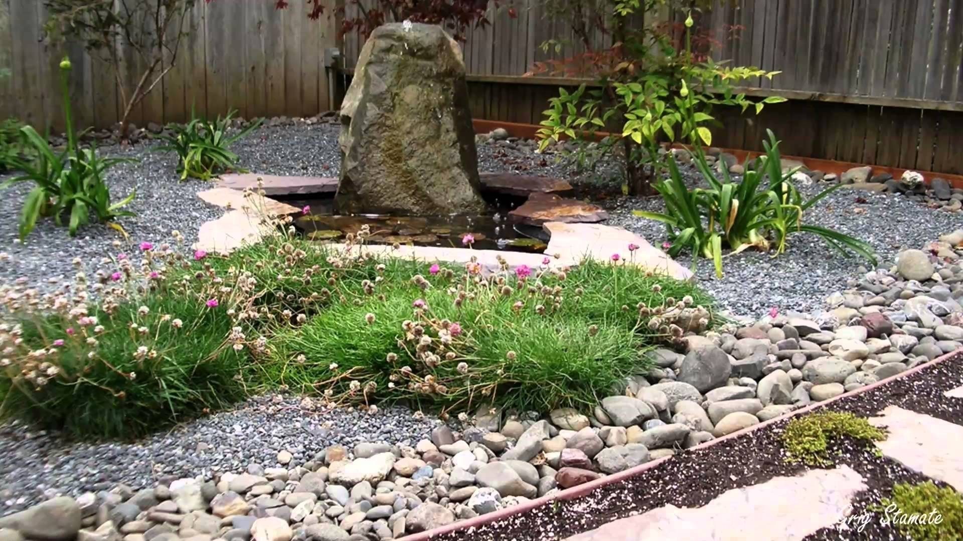 Beautiful Small Japanese Garden Designs   Youtube With Making A Backyard  Zen Garden