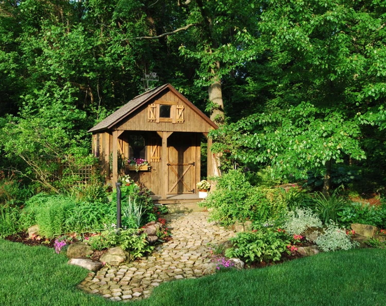 Double Backyard How To Build Cheap Workshop Garden Building Design for Backyard Garden With Shed