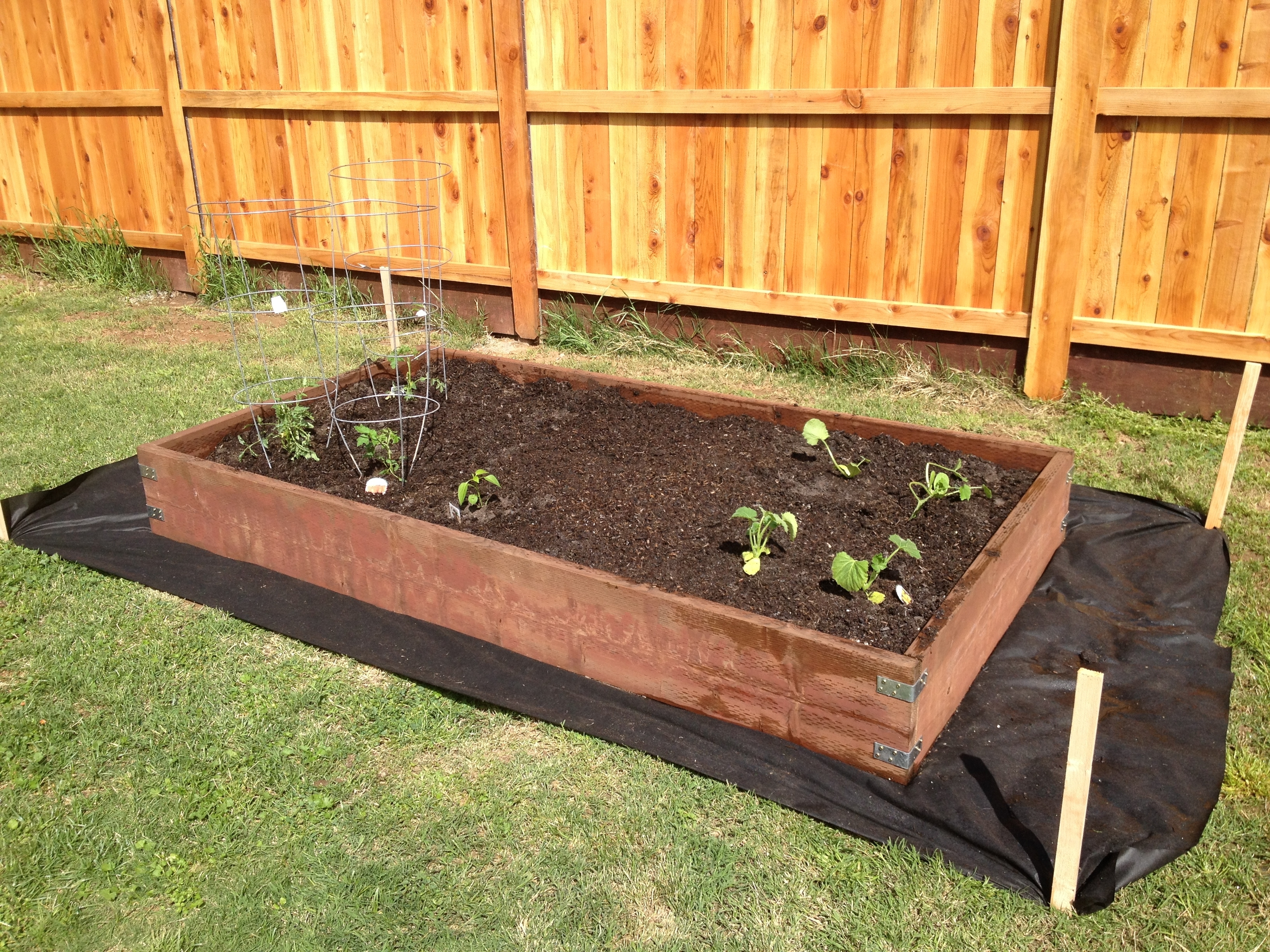 Garden Box Made Using 2X12 Pressure Treated Wood And L Brackets within How To Make Backyard Garden Box