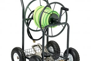 Garden Hose Reel Cart With Wheels Backyard Expressions Garden Hose regarding Backyard Expressions Garden Hose Reel Cart