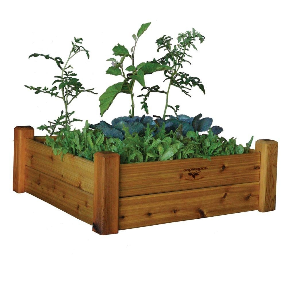 Garden Suncast Tiered Raised Square Planter Kit Cedar With Beds Bed with regard to Backyard Gear Garden Center